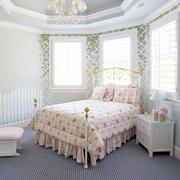 田园风格儿童房床装修