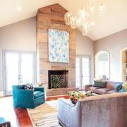 温馨系列豪华型客厅吊顶装修