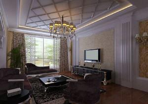 120平米高大上的欧式罗马柱电视背景墙设计效果图鉴赏