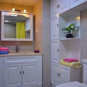 自然风格浴室柜效果图