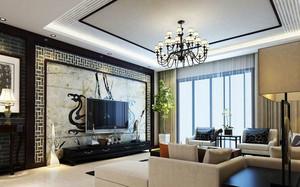 浅色调客厅背景墙