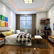 小卧室木质地板效果图