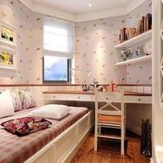 恬淡系列卧室壁纸装修