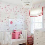 唯美风格儿童房背景墙