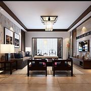 中式客厅餐厅装修图片