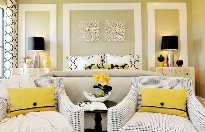 清爽柠檬黄宜家小户型20平米小卧室装修效果图