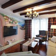 三室一厅背景墙装修