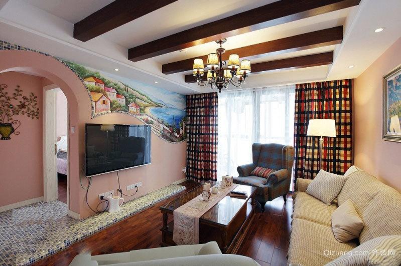 回归自然的美式田园风格三室一厅室内装修设计效果图
