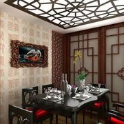 饭店背景墙设计图片