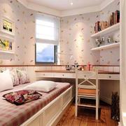 粉色调小卧室效果图