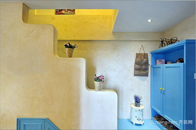玄机多变的浪漫地中海风格三居复式楼装修效果图