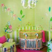 田园风格儿童房背景墙