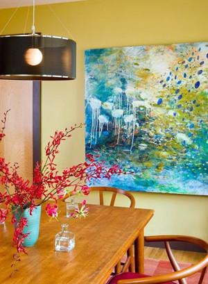 2015赏心悦目的15平米家居餐厅装饰画装修效果图