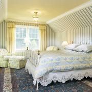 田园风格卧室壁纸装修