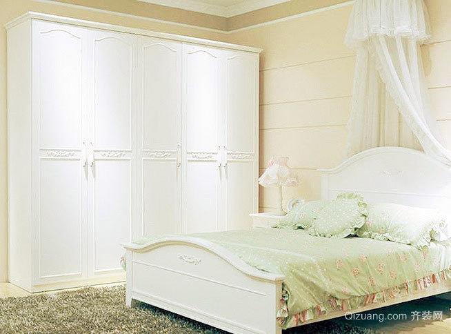 优雅的浪漫女孩子最喜欢的卧室衣柜装修效果图