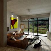 两层别墅落地窗设计