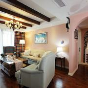 唯美风格三室一厅装修