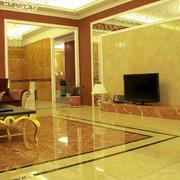 金色调地板砖设计图片