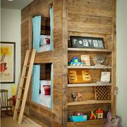 木质卧室高低床图片