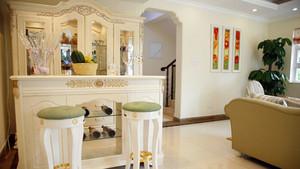 精美法式风格浪漫客厅吧台装修效果图