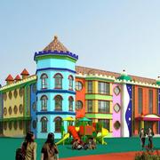 欧式风格幼儿园墙体画
