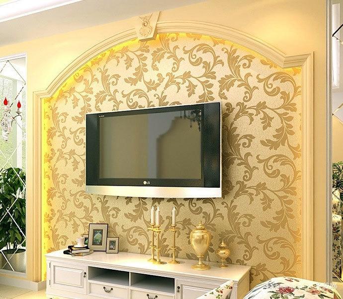 让人心情舒畅的欧式电视背景墙装修效果图大全