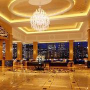 暖色调酒店大厅设计