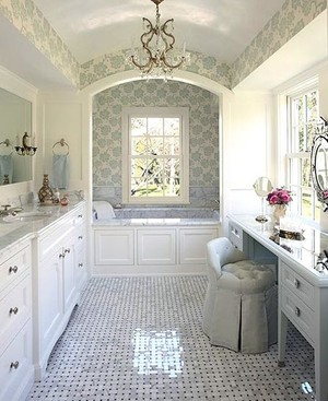清新自然造价便宜的100平米两居室卫生间装修效果图