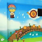 自然风格幼儿园墙体画