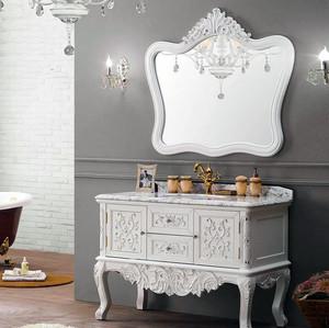 大户型欧式实木浴室柜装修效果图鉴赏