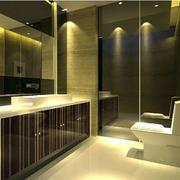 灰色调洗手间设计