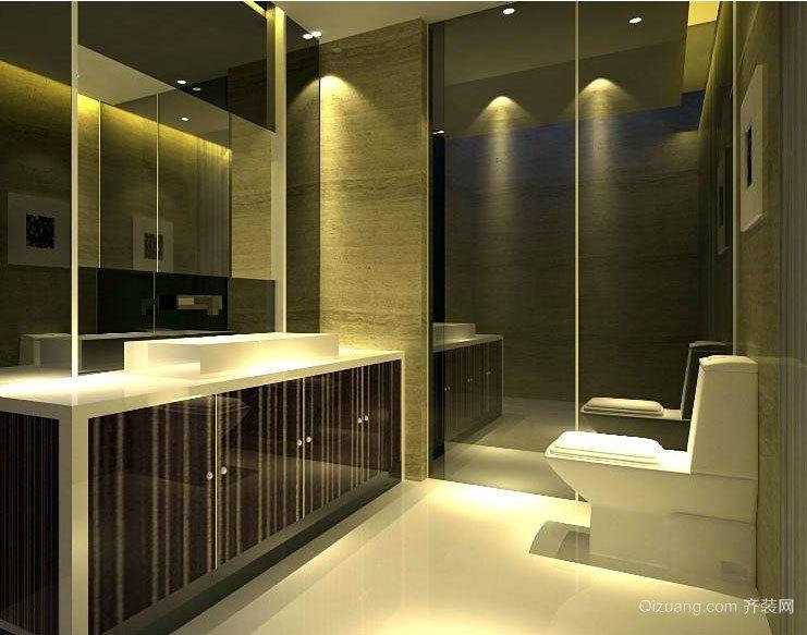 大户型适宜大众的精致现代洗手间装修效果图鉴赏