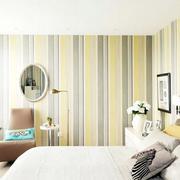条纹型卧室壁纸装修