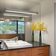 木色调浴室柜效果图