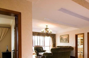 暖色调客厅吊顶装修