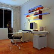 小书房电脑桌效果图
