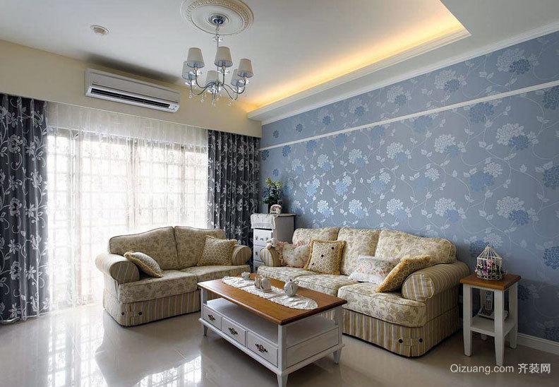 130平米的美观合理收纳田园三室一厅室内装修设计效果图