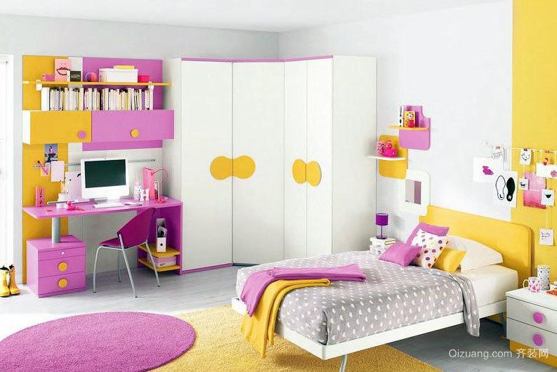 90平米清新时尚的迷人卧室壁柜装修效果图大全