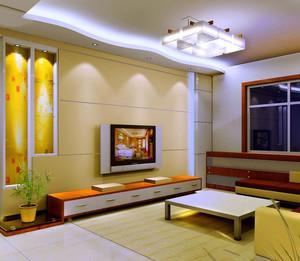 单身公寓富有创意的精致电视墙壁纸造型设计效果图大全