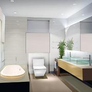 清爽型洗手间设计