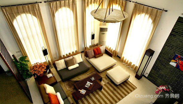 漂亮的118平米后现代风格窗帘装修效果图