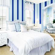 白色简约卧室壁纸装修