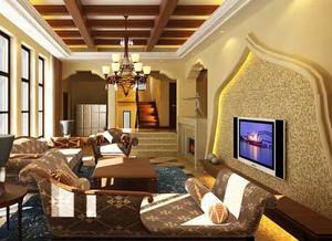 专为中老年人设计的客厅电视背景墙装修效果图