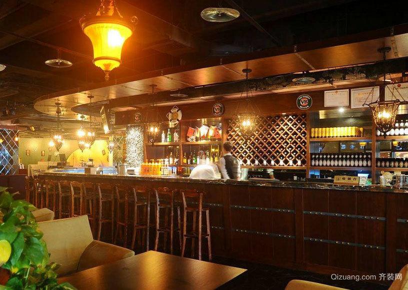 2015豪情万分的都市酒吧吧台装修效果图大全
