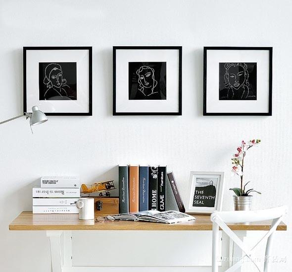 另一个天堂 酷炫书房家居装饰画装修效果图