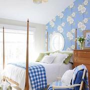 蓝色调卧室装修图片