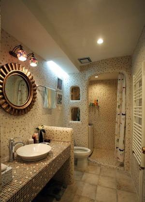 暖色调卫生间设计