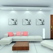 清新风格客厅背景墙
