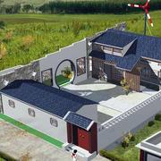 农村一层房屋庭院设计