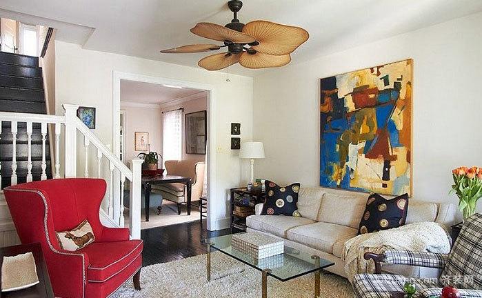 无框架艺术错层家居室内装饰画装修效果图